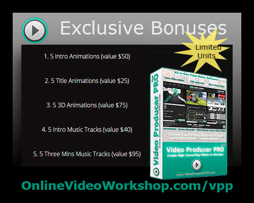 Bonus For Buying Video Producer PRO!